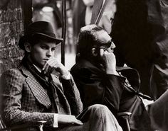 Helmut Berger and lover/director Luchino Visconti