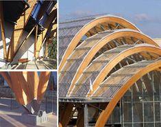 cadamda.org - Suplemento maderadisegno Architecture Concept Diagram, Bamboo Architecture, Organic Architecture, Architecture Design, Roof Structure, Building Structure, Steel Structure, Hall Construction, Arch Model