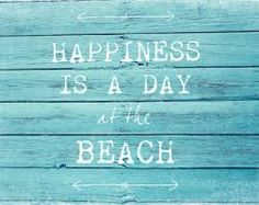"""Happiness is a day at the beach"" Couldn't agree more!"