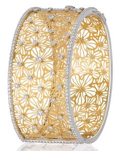 Bapalal Keshavlal: diamond and gold bracelet.