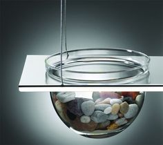 Suspended Glass Display Bowls From Mono Can Hold Live Fish or Fruit. - if it's hip, it's here