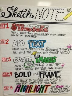 Sketchnoting with Students...I keep coming across this idea - I like this idea; I'm just not sure how to teach or implement this idea.