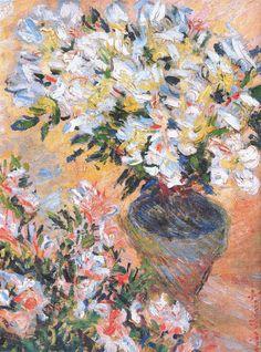 Azalées blanches en pot (C Monet - W 929),1885.