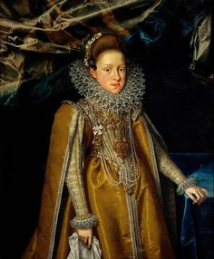 Portrait of 'Archduchess Maria Magdalena of Austria,' (c.1603) by Flemish painter Frans Pourbus the Younger (1569-1622). via to love many things
