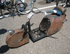 earthman's actual ratrod foto thread - Page 111 - Undead Sleds / Rat Rods Rule - Hot Rods, Rat Rods, Sleepers, Beaters & Bikes. Mini Motorbike, Mini Bike, Scooter Motorcycle, Rat Rods, Steampunk Motorcycle, Motorised Bike, Drift Trike, Cruiser Bicycle, Motor Scooters