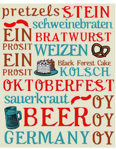 october is for oktoberfest - free printable for october home decor