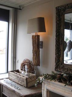 ≥ lâmpada de parede de madeira de carvalho velha muito boa exclusiva, troncos - Lâmpadas   Lâmpadas de parede - Marktplaats.nl