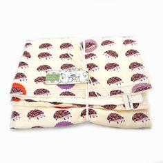 Baby Blanket Outfoxed Plum Hedgehogs Woobie Cream Minky Dot Chenille on Etsy, $28.00