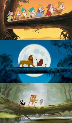 Snow White and the Seven Dwarfs (1937), The Lion King (1994), Bambi (1942).