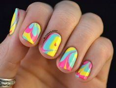 pastel swirls. Water marble- so Fun and easy