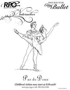Nutcracker Ballet Sugar Plum Coloring Pages