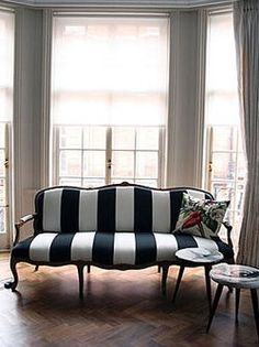 Bold stripes and floor to ceiling windows