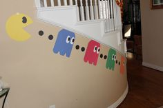 Pacman video game birthday party decor down to the basement 80s Birthday Parties, Birthday Games, Birthday Ideas, Man Birthday, 10th Birthday, Sonic Birthday, Themed Parties, Happy Birthday, Video Game Decor