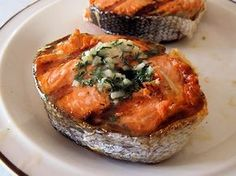 Dilled Salmon Steaks | oldfatguy.ca
