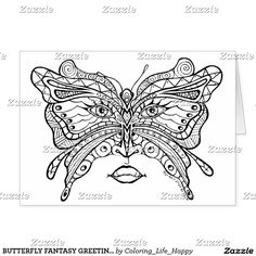 BUTTERFLY FANTASY GREETING, NOTE & GIANT CARDS