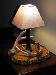 how to make a deer horn lamp