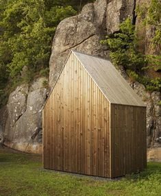 11 Extraordinary Designs That Make You Rethink the Modern Shed - Photo 2 of 11 - For their Micro Cluster Cabin, Norwegian architecture firm Reiulf Ramstad Arkitekter designed a shed that stored firewood and gardening supplies, and that unmistakably was connected with the main house through its steeply gabled roof and aged pine cladding.