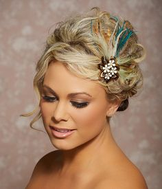 Bohemian Wedding Feather Fascinator