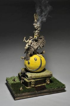 """PROMETHEUS BOUND: A Strictly  Dysfunctional Incense Burner to the Art Gods"" Merry Arttoones ...Reality Check Studio...Mary Susan Cate..."