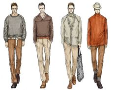 Fashion Illustrator Mengjie Di: Commission from StyleSight Trend ForeCasting Menswear Illustrations ( Photoshop Rendering) - Simple four figure line up Man Illustration, Fashion Illustration Sketches, Fashion Design Sketches, Fashion Drawings, Fashion Designers, Trend Forecasting, Rpg Star Wars, Mens Fashion Blazer, Man Fashion