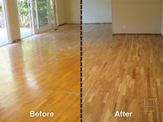 Before And After Floor Refinishing Looks Amazing
