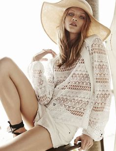 Anna Selezneva + Esther Heesch Model Dreamy Fashions for Oui S/S 2015 Bohemian Mode, Bohemian Style, Boho Chic, Space Fashion, Boho Fashion, Womens Fashion, Moda Hipster, Anna Selezneva, German Fashion