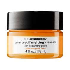 OLE HENRIKSEN - Pure Truth™ Melting Cleanser: a unique, transformative three-in-one cleanser that melts on contact into a luxurious oil to effortlessly dissolve the most stubborn long-wear, waterproof makeup as it cleanses away impurities.  #Sephora #skincare #cleanser