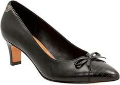 Clarks Women's Crewso Calica Dress Pump, Black Leather, 6.5 M US - Clarks pumps for women (*Amazon Partner-Link)