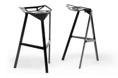 Vittoria Brown Leather Modern Counter Stool (Set of 2) | Wholesale Interiors