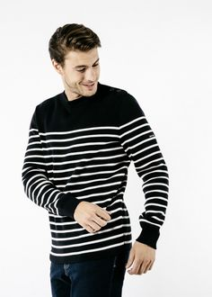 Saint James, Unisex Clothes, Clothes For Women, Style Marin, Navy Uniforms, R Colors, Striped Polo Shirt, Lookbook, Pulls