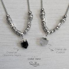 Vera Collar  - 2 en 1 en internet Beaded Jewelry, Handmade Jewelry, Beaded Necklace, Beaded Bracelets, Pendant Necklace, Diy Earrings, Beautiful Necklaces, Jewelery, Chokers