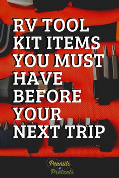 It's really important that you have your RV tool kit prepped and ready to go at all times, because you never know what potential issues might come up during RV travel. The last thing you want during your relaxing vacation is to be stuck on the side of the road, trying to flag down people just to ask to borrow a simple wrench. So from our experience, here are some items that you should make sure to have in your RV tool kit. Travel Checklist, Travel Advice, Travel Tips, Travel Photos, Travel Destinations, Road Trip Planner, Travel Planner, Rv Travel, Family Travel