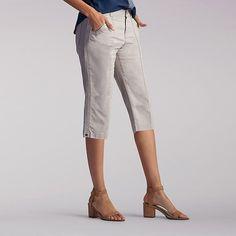Lee Women's Lorelie Knitwaist Skimmer Capri Pants-Petite::12:P