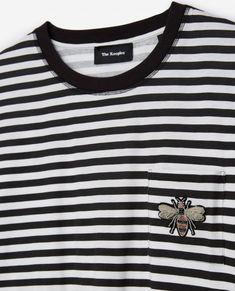 Long-sleeved black and ecru striped top - THE KOOPLES WOMAN