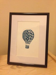 "Balloon linocut print (8"" x 6"") by PrintsbyLucyPerry on Etsy"