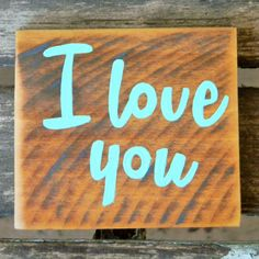 Valentine's Day Rustic Pallet Wood Sign - I love you - $10 by ThreeDrinkMinimum