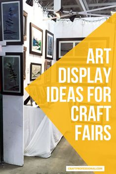 Craft show display ideas for art prints. 7 photos show you how to display art in a portable craft fair booth. #craftfairdisplay #artdisplay #craftprofessional Vendor Displays, Craft Fair Displays, Store Displays, Display Ideas, Selling Crafts Online, Craft Online, Crafts To Sell, Fun Crafts, Craft Show Booths