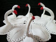 Swan Bathroom Set Pattern   Free Crochet Patterns