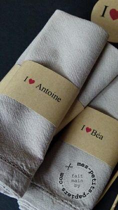 Ronds de serviette éphémères pour toutes les occasions!