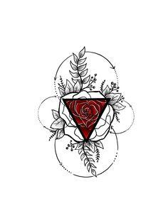 A beautiful geometric rose Casey Hart at Rose Red Tattoo Ellicott City MD