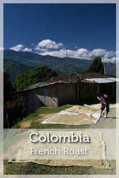 Colombia French Roast Coffee- Organic Fair Trade Shade-Grown Coffee