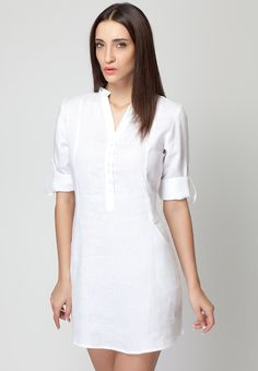 Sleeveless Beige Linen Dress - Mksp - Buy Women's Dresses Online ...
