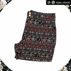 """153 curtidas, 15 comentários - ❤Kate Viana❤️ (@comovaigordinha) no Instagram: """"Aloka da estampa étnica, eu mesmo! Short lindo#Repost @lojas_citycol with @repostapp ・・・ Já tem…"""""""