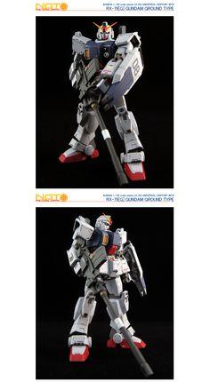 HG Gundam Ground Type - Customized Build Modeled by NGT Factory Japan Ground Type, Mobile Suit, Gundam, Master Chief, Movie Tv, Hguc, Rx, Darth Vader, Japan