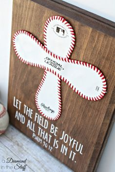 Baseball Cross Coach Gift | A Diamond in the Stuff