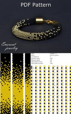 Bead crochet pattern ombre seed bead bracelet tutorial pdf beading master Class jewelry make necklace Crochet Rope tutorial geometric - Bead crochet pattern ombre seed bead bracelet tutorial pdf Bead Embroidery Patterns, Bead Crochet Patterns, Bead Crochet Rope, Seed Bead Patterns, Beading Patterns, Beaded Crochet, Knitting Patterns, Mosaic Patterns, Loom Patterns