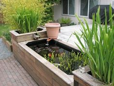 42 Awesome Fish Ponds Design Ideas For Your Backyard Landscape. There are many sorts of ponds it's possible to build in your backyard. A little pond limits the amount of fish and plants you̵. Patio Pond, Pond Landscaping, Landscaping With Rocks, Backyard Patio, Small Backyard Gardens, Ponds Backyard, Large Backyard, Above Ground Pond, Raised Pond