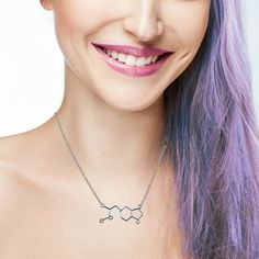 MDMA Molecule Necklace - Molly / Ecstacy Chemical - Candy Raver Jewelry