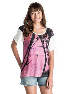 Boyfriend - Roxy T-Shirt mit Crew Neck für Frauen  Boyfriend T-Shirt mit Crew Neck von Roxy. Die Eigenschaften dieses Produkts sind: 140 g/m2 Stoff, kurze Ärmel und Foto Print auf der Vorderseite. Dieses Produkt besteht aus: 100% Baumwolle.  Merkmale:  T-Shirt mit Crew Neck, 140 g/m2 Stoff, Kurze Ärmel, Foto Print auf der Vorderseite,  Dieses Produkt besteht aus:  100% Baumwolle,  ...