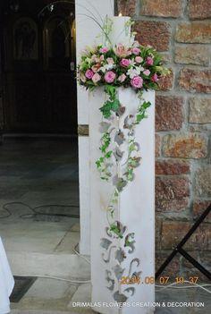 στολισμος γαμου στην Αγια παρασκευη παλατιανη Church Flowers, Wedding Decorations, Wedding Ideas, Ladder Decor, Centerpieces, Candles, Vintage, Dream Wedding, Party Ideas